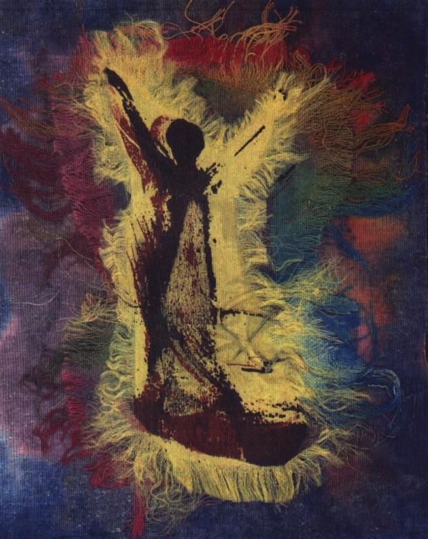 Fatima-De-woven silkscreen image
